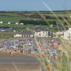 Summer heatwave in Croyde North Devon