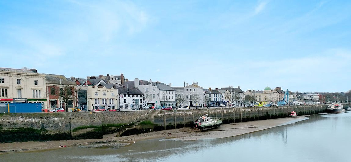 Bideford town on the Tarka Trail